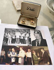 John Wayne collectibles Masonic Cufflinks And Tie Clip With Autograph Card