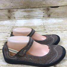 Jambu J-41 Libby Shoes Brown Yellow Women's Size 8.5M Mary Jane Flats