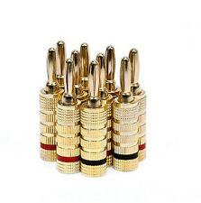 10 pcs 5 Pairs Gold plated Copper Speaker Banana Plugs Closed Screw Type