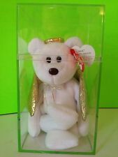 Ty Halo Ii Beanie Bear In Protective Case Retired Beanie Babies Collectible