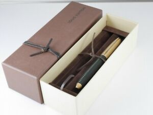Louis Vuitton Doc Cuir Green Leather and Gold Plated Rollerball Pen (NEAR MINT)