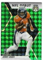 Jerry Jeudy 2020 Panini Mosaic NFL Debut GREEN Prizm Rookie RC #267 Broncos