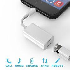 Iphone 7 Iphone 8 X Dual 2 Lightning Audio Auriculares Adaptador Cargador Divisor de Reino Unido