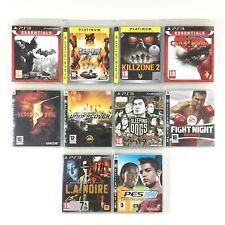 Lot 10 Jeu PS3 Batman Saints Row Killzone 2 God of War III Resident Evil 5 PES..