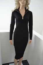 WOLFORD Merino Zip Dress Kleid Strickkleid Wool Wolleblack schwarz Small