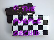 RARE Kate Spade Photo Finish Marcelle convertible clutch race car checkered flag