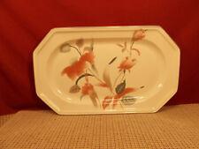 "Mikasa China Silk Flowers Serving Platter 14 3/4"" x 9"""