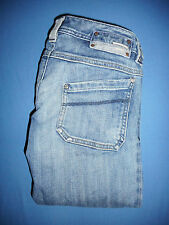 Diesel KEATE- Waist 27 - Ladies Blue Denim Jeans Shorts - Zip-Fly - G496