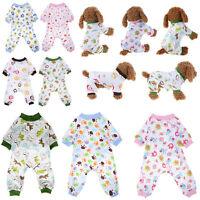 Pet Dog Pajamas Clothes Puppy Coat Jumpsuit Apparel Soft Cotton Cute Cartoon