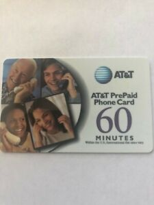 """AT&T PrePaid Phone Card 60 Minute card """"New"""" No expiration date & Free Shipping"""
