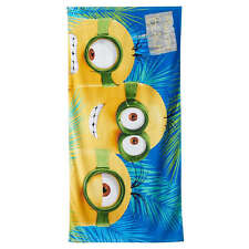 Minions Isle De Minions Beach Towel Cotton 28x58 NWT
