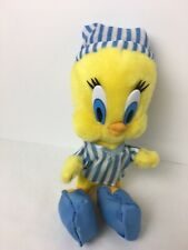 buy popular 50196 6aba9 Tweety Bird Plush 12 Inch Looney Tunes Play By Play Pajamas Slippers  Stuffed Toy