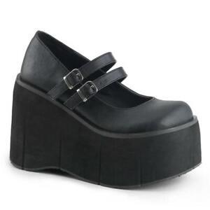 Demonia   Kera-08 Women's Double Strap Goth Platform Shoes