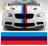 BANDE POUR BMW M3 MOTORSPORT RACING STRIPE 55cmX15cm AUTOCOLLANT STICKER BD574