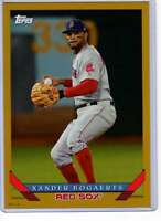 Xander Bogaerts 2019 Topps Archives 5x7 Gold #217 /10 Red Sox