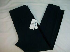 Old Navy Leggings Size M Active Street Girl's Dark Navy Blue Elastic Waist New