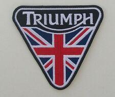 TRIUMPH MOTORCYCLES 3.25 INCH UNION JACK PATENT PLATE PATCH