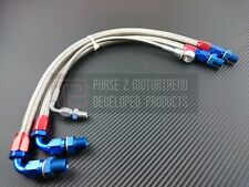 P2M Stainless Steel Braided Turbo Line Kit For Nissan 240SX S14 S15 SR20 Silvia