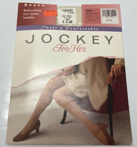 Jockey for Her Queen Size Sheer & Comfortable Sandalfoot Antique White Pantyhose