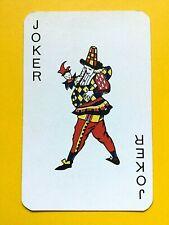 Cone Hat Jester Blue/Yellow Tunic Variation Joker Single Swap Playing Card