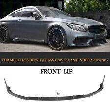 Front Bumper Lip Spoiler Carbon Fiber For Benz C-Class C205 C63 AMG Coupe 15-17