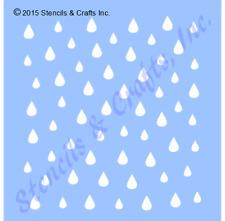 MINI RAINDROPS STENCIL PATTERN RAIN CRAFT STENCILS TEMPLATE TEMPLATES #1 ART NEW