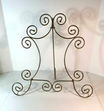 Large Gold Metal Curlicue Table Top Picture Easel Art Holder