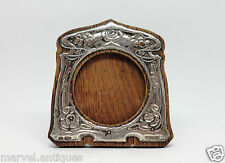 Antique Edwardian Art Nouveau Sterling Silver Photo Frame 1905