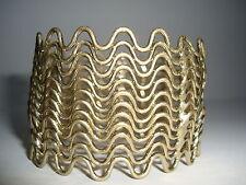 1 Nickel free yellow gold tone zigzag cuff bracelet bangle jewellery