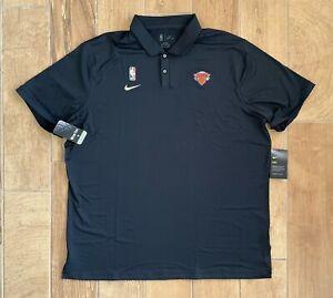 New Mens Nike NBA New York Knicks Basketball Polo Shirt Black Sz 2XL TALL $75
