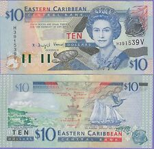 Eastern Caribbean States-St.Vincent 10 Dollars Banknote 2003 AUnc, Cat#43-V-1539