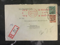 1947 Kiel to Nuremburg Germany Cover War Crimes Military tribunal justizpalast