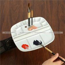 1Pc Foldable Art Paint Tray Oil Watercolor Plastic Palette With Thumb Hole S8