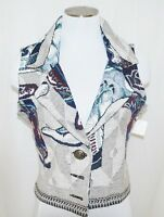CHIC NWT Southwest Canyon Western Rodeo Cowgirl Boots Cropped Tapestry Vest M