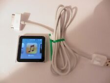 Apple iPod Nano 6th Generation SILVER 16GB + Apple USB Cable Bundle FREE UK POST