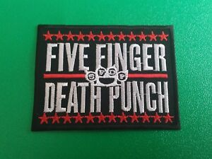 Five Finger Death Punch Patch Punk Rock Heavy Metal Pop Music Sew/Iron On Badge