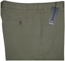 $295 NEW ZANELLA SAGE CRINKLE WASH FINELY RIBBED KHAKI CORDUROY HYBRID PANTS 34