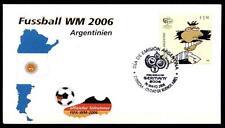 Fußball. WM-2006, Deutschland. FDC(2). Argentinien 2006