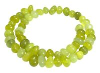 😏 Peridot Perlen große rundliche Nuggets ca. 12-14 mm Edelsteinperlen Strang 😉
