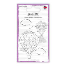 LOT TAMPON transparent clear stamp MONTGOLFIERE air balloon voyage scrapbooking