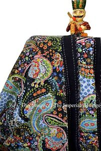 100%Cotton Kantha Work Quilt Queen Bed Cover Quilt Handmade Blanket Bedding