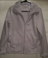 Carolyn Taylor Womens Gray Fleece Zipper Front Jacket Coat Size M