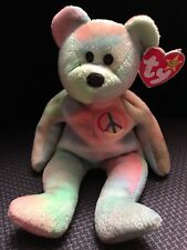 Peace Beanie Baby W/ Two Tag Errors And Unique Colour wave (Ultra Rare)