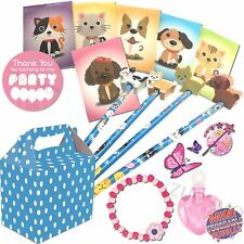 Pre Filled Girls Party Bags Blue Polka Dot Box Birthday Wedding Gifts Favours