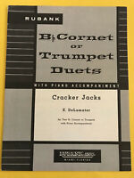 Cracker Jacks, E. DeLamater, Trumpet or Cornet Duets with Piano Acc.