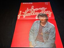 johnny hallyday  rare affiche  promo concert disque philips annees 70
