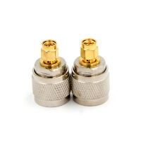 N-Type N Male Plug to SMA Male RF Coaxial Adapter Connector GX
