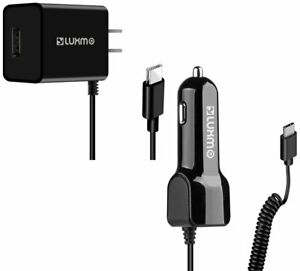 Luxmo Type-C Wall/Car Charger Combo Extra USB Port for iPad Pro Galaxy S20+ Note