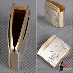 White Brass Arrow Rain Habaki Collar For Japanese Samurai Sword Katana Wakizashi