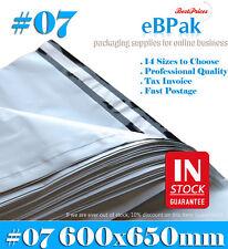 200 600x650mm Plastic Courier Parcel Satchel Poly Mailer *TOP QUALITY HEAVY DUTY